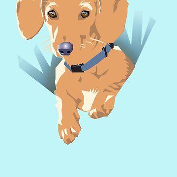 Pocket Puppy Blue aqua by aartytees