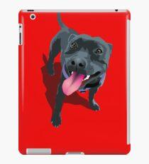 Staffy Bull Terrier on Red iPad Case/Skin