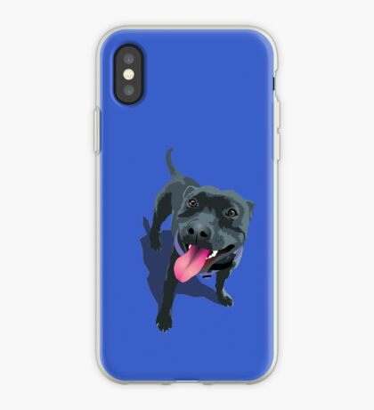 Staffy Blue iPhone Case