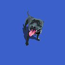 Staffy Blue by Bloomin'  Arty Families