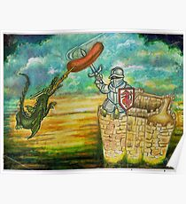 barbeque painting mixed media posters redbubble