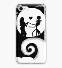 Jack and Sally in the night iPhone Case/Skin