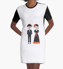 Doll Couple Graphic T-Shirt Dress