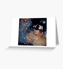 Dreams of Floral Galaxy  Greeting Card