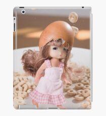 Baby doll with cheerios iPad Case/Skin