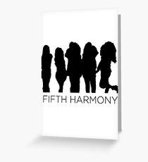 Tarjeta de felicitación Fifth Harmony silhouette