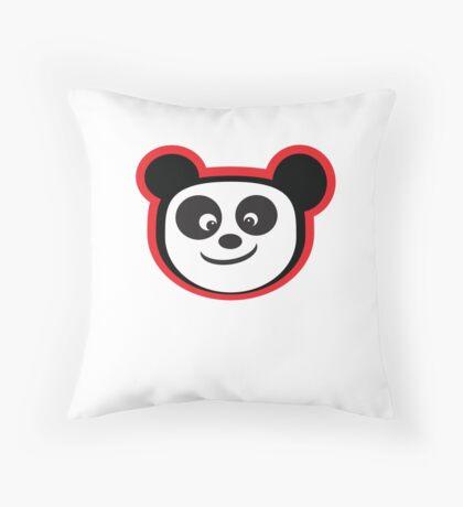 Smiling Panda Throw Pillow