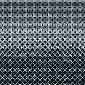 Geometric Triangles in Blue Metal Grey by SweetSapling