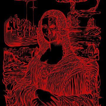 Psychedelic Mona Lisa #3 by sandersart