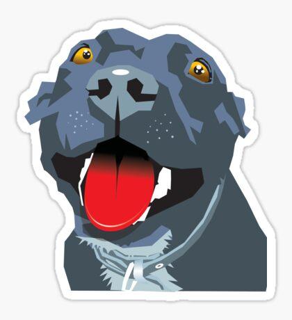 Black Staff Staffy Sticker