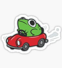FROG IN A CAR - MOTHER 3 Sticker