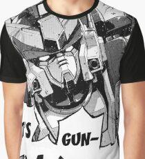 Gundam Wing Manga Heavyarms Graphic T-Shirt