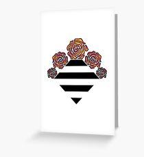 Bouquet Geometric Aesthetic Design Greeting Card