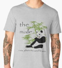 The Male Eats, Shoots and Leaves Vector Men's Premium T-Shirt