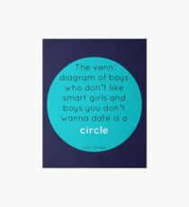 The Venn Diagram of Boys... Art Board