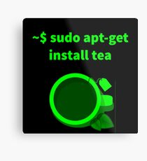 Linux sudo apt-get install tea Metal Print