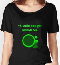 Linux sudo apt-get install tea Women's Relaxed Fit T-Shirt
