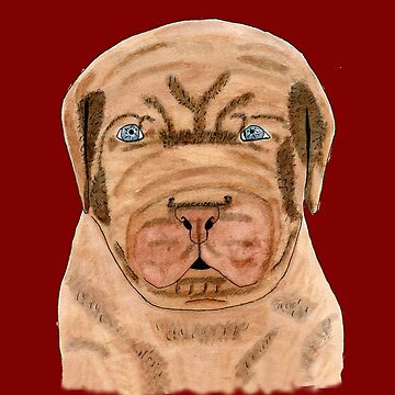 French Mastiff Puppy Dog Watercolor Shirts Clothing & Products by joyfuldesigns55