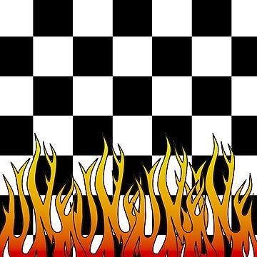 Checkered Racing Flames by xpunkspirationx