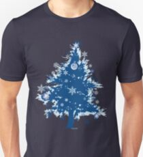 Christmas T-shirt - Blue Christmas Tree Unisex T-Shirt