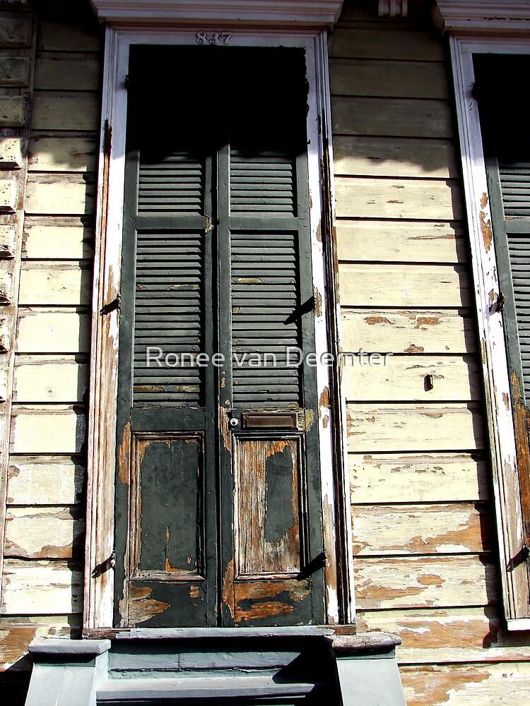 Rotting old door in the French Quarter by Ronee van Deemter
