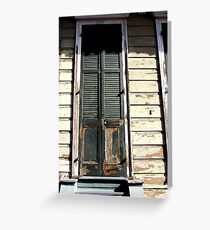 Rotting old door in the French Quarter Greeting Card