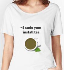 Linux sudo yum install tea Women's Relaxed Fit T-Shirt
