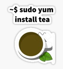 Linux sudo yum install tea Sticker
