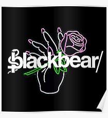 Blackbear LEd ROse Hand with flower LOGO Poster