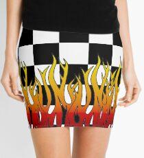 Minifalda Llamas de carreras a cuadros