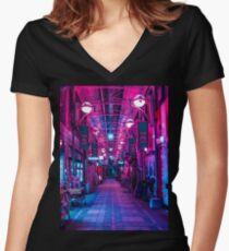 ENTRANCE TO THE NEXT DIMENSION Women's Fitted V-Neck T-Shirt