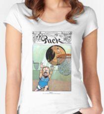 Teddy Roosevelt Dunks Taft Political Cartoon (Puck Magazine) Women's Fitted Scoop T-Shirt