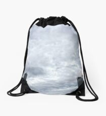 Overcast Hong Kong Drawstring Bag