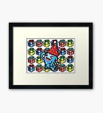 [Pokemon] 8Bit Wobuffet and Staryu Christmas Edition Framed Print