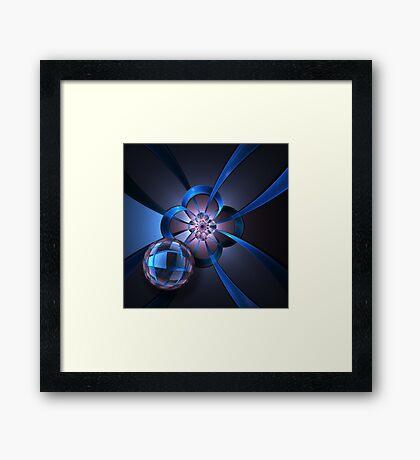 Portal with Blue Glass Ball Framed Print