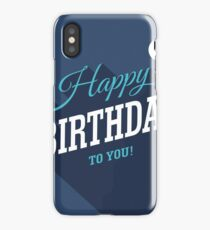 Blue Birthday Card iPhone Case/Skin
