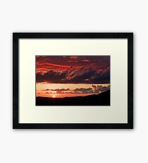 The game of Sun and clouds Framed Print