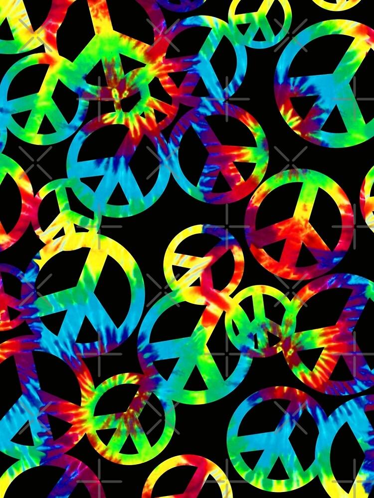 TYE-DYE PEACE SIGNS by stuph4kewlkidz
