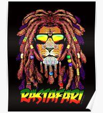 RASTAFARI LION Poster