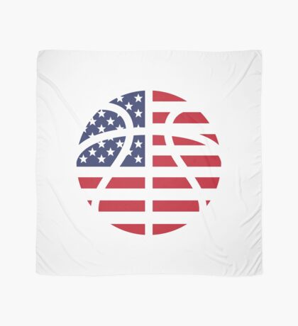 American Basketball Flag Scarf