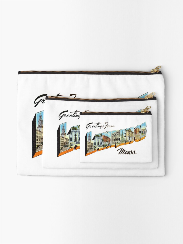 Alternate view of Greetings from Lawrence, Massachusetts Zipper Pouch