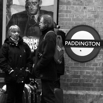 WAITING FOR THE TRAIN AT PADDINGTON STATION LONDON by kazaroodie