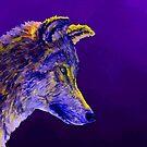2 Wölfe /wolves Version2 von Doris Thomas