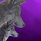 2 Wölfe /wolves Version7 von Doris Thomas