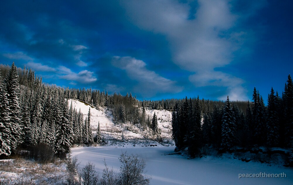 The Beatton River (winter view) by peaceofthenorth