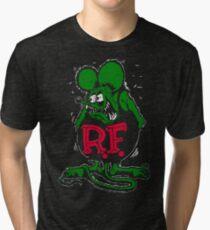 MOST POPULAR HO984 Rat Fink Ratfink Distressed Mens Black T Shirt New Product Tri-blend T-Shirt
