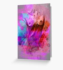 Act - pink turquoise Greeting Card