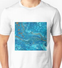 Blue & Gold Flowing Together T-Shirt