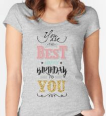 Birthday Greeting Card Women's Fitted Scoop T-Shirt