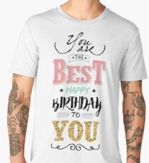 Birthday Greeting Card Men's Premium T-Shirt